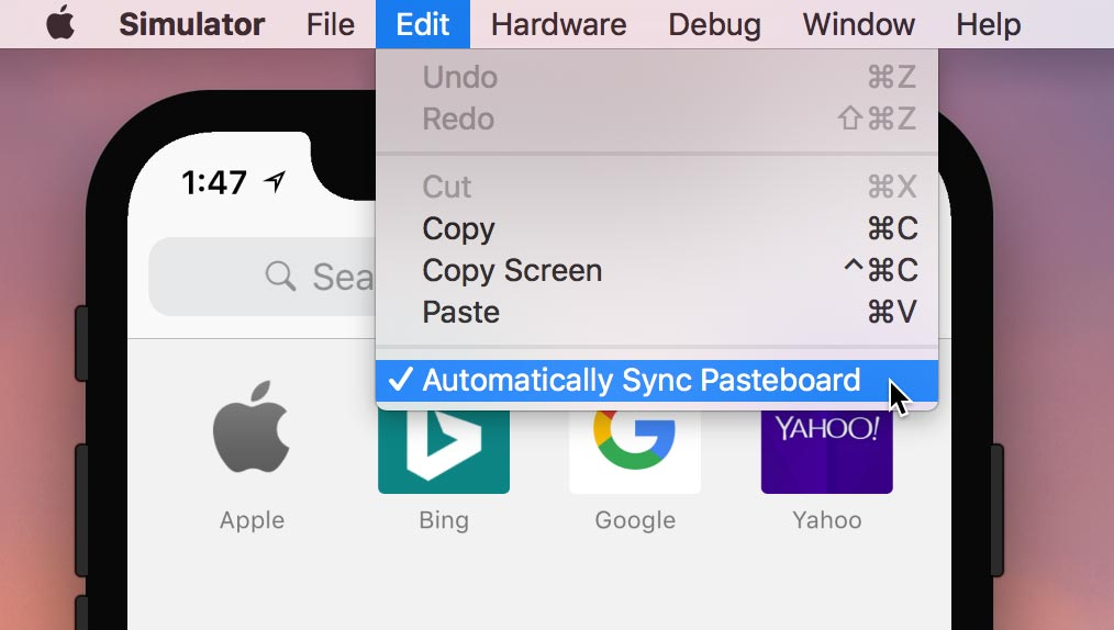 "Turn on ""Automatically Sync Pasteboard"""